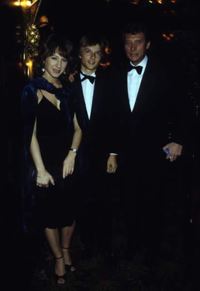 Avec Nathalie Baye et son père, Johnny Hallyday