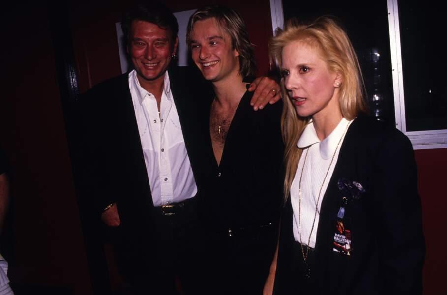 Avec sa mère et son beau-père Tony Scotti