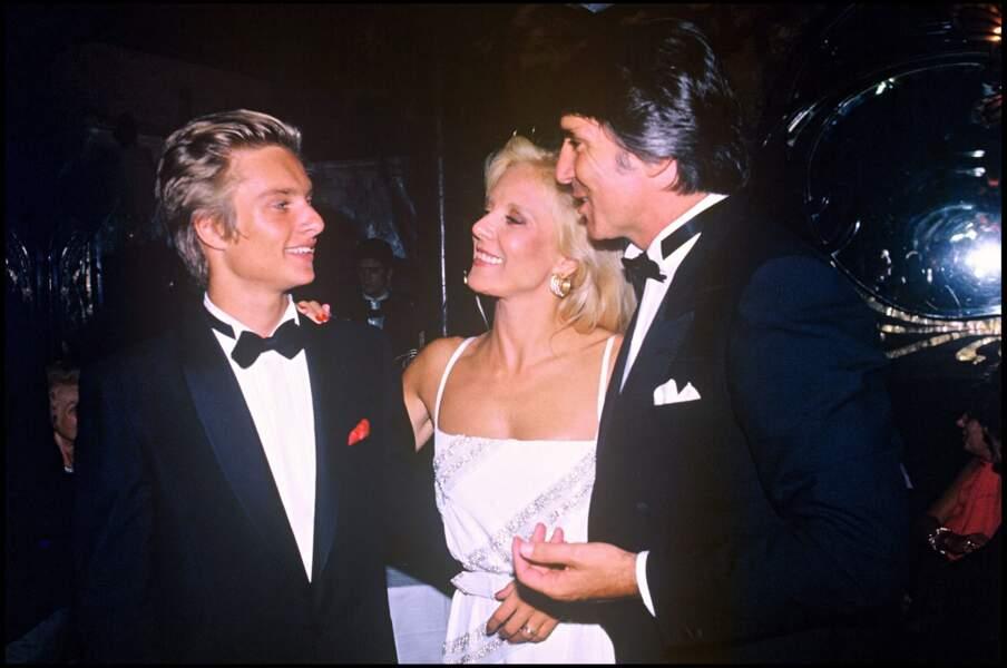 Avec Tony Scotti et sa mère en 1984