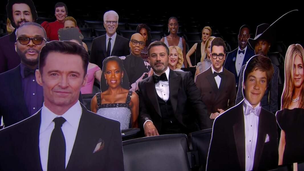 Jimmy Kimmel et ses invités en carton