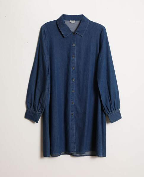 Robe chemise en jean, Pimkie, 19,99 €