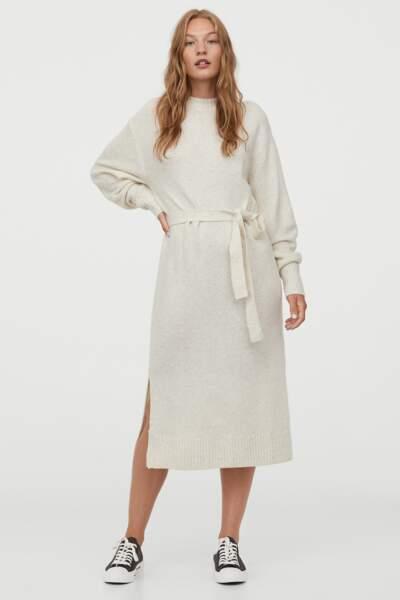 Robe en maille beige clair, H&M, 34,99€