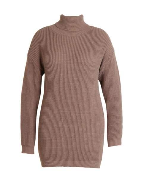 Robe pull col roulé Plus, Boohoo, actuellement à 19,50€