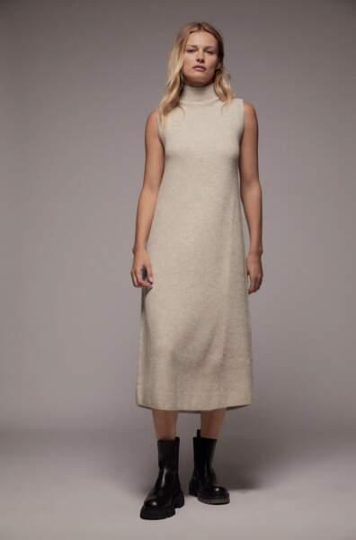 Robe en maille côtelée, Zara, 39,95€