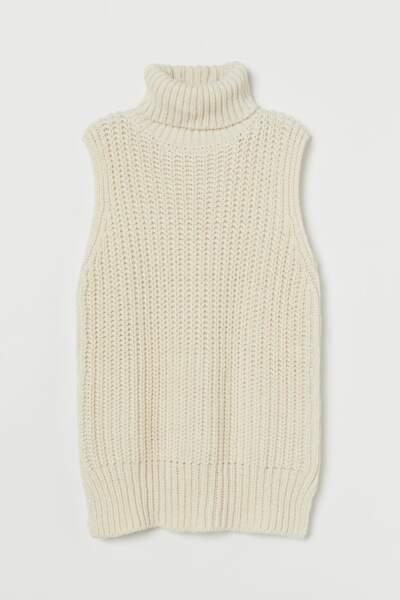 Pull sans manches, H&M, 19,99€