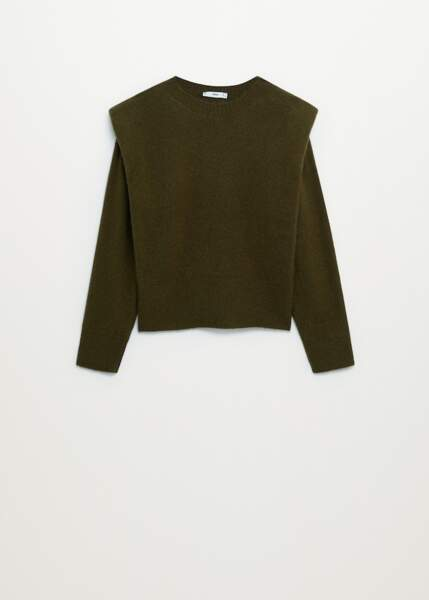 Pull-over maille épaulettes, Mango, 39,99€