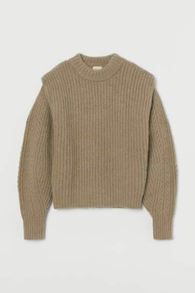 Pull en laine mélangée, H&M, 49,99€