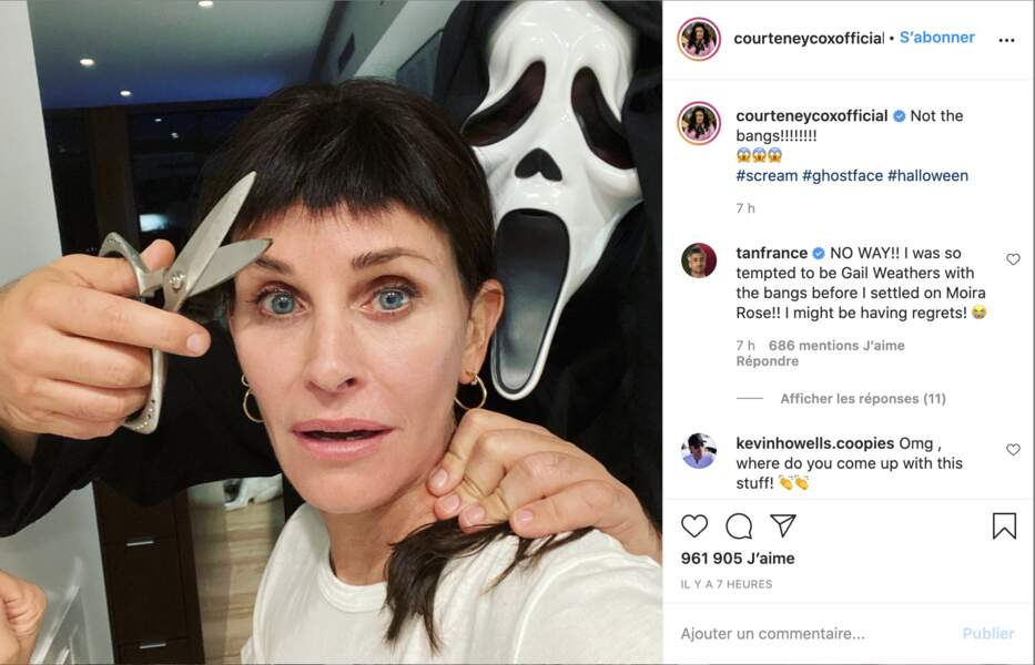 Courteney Cox en mode Scream