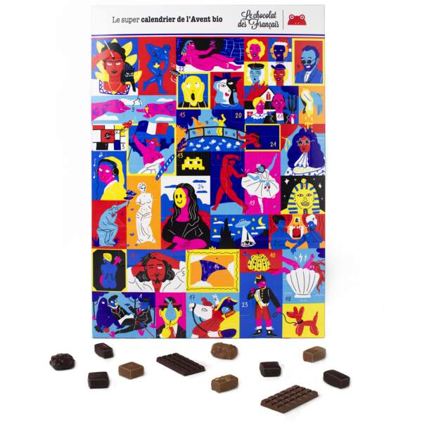 Calendrier de l'avent Le Chocolat des Français, 29 €