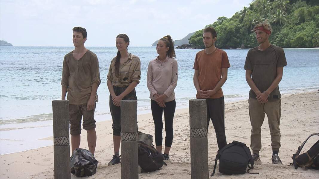 Koh-Lanta, les 4 Terres : Loïc, Alexandra, Lola, Dorian et Brice