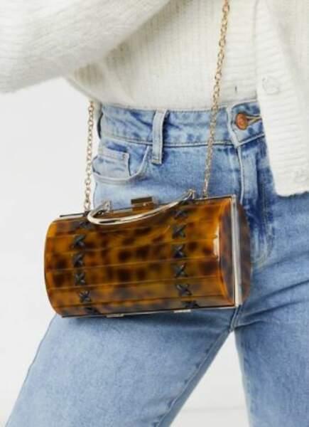 Mini sac pochette en écaille de tortue, Skinnydip, actuellement à 44,99 €