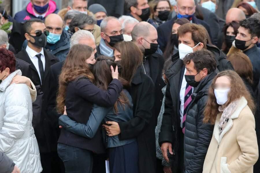 Obsèques de Christophe Dominici : sa femme Loretta Denaro, sa fille Kiara , Max Guazzini et Franck Comba