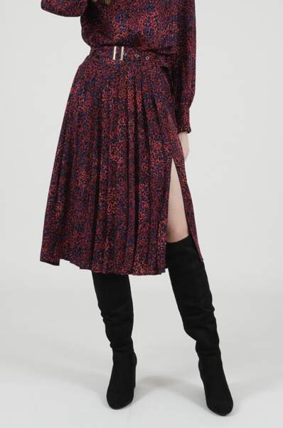 Jupe plissée imprimé léopard, Molly Bracken, 49,95€