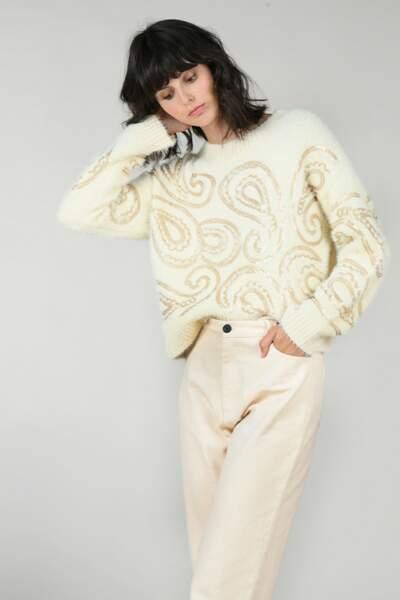 Pull motif à sequins, Molly Bracken, 65,95€