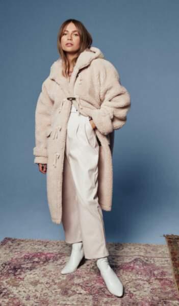Manteau oversize en fausse fourrure, Nasty Gal, actuellement à 62 €