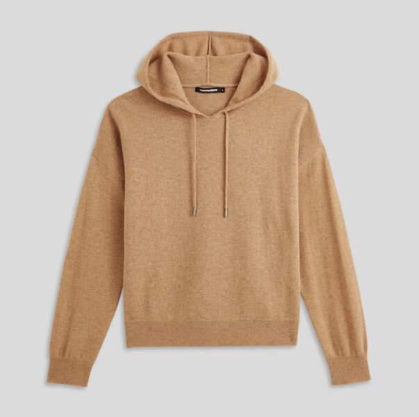 Pull à capuche en laine et cachemire, Monoprix, 49,99€