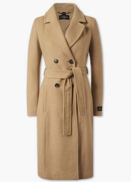 Manteau long classique en laine mélangée, C&A,
