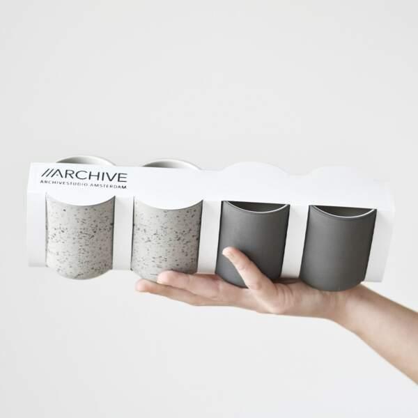 Set de 4 tasses à café, Archive Studio sur Designer Box, 36€