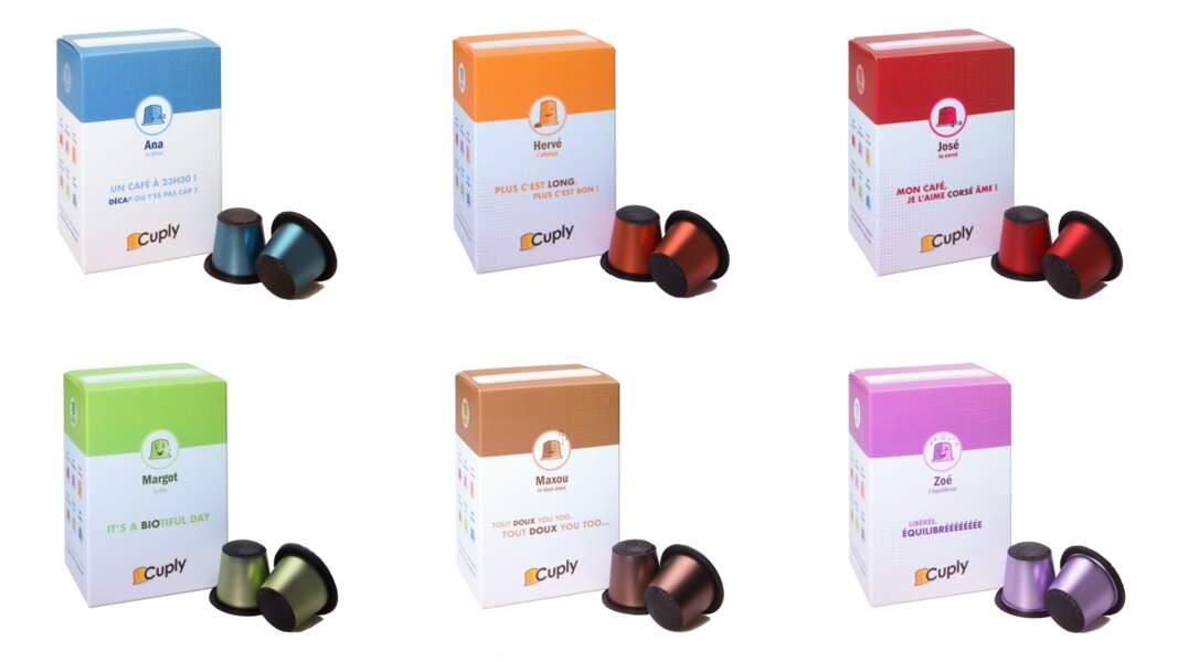 Capsules café Made in France, compatibles avec les machines Nespresso, disponible en abonnement (sans engagement) sur cuply.com à partir de 24 €