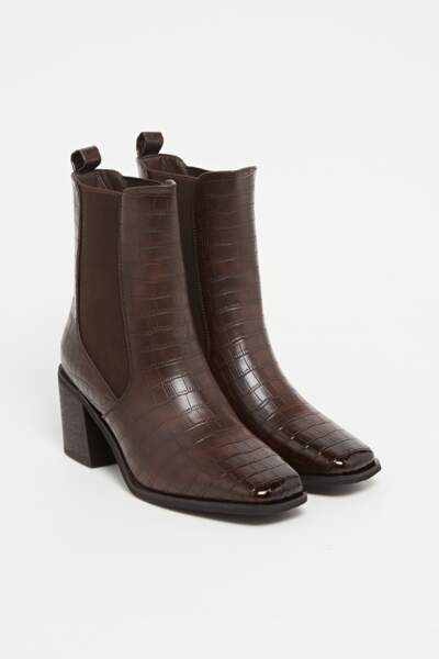 Bottines à talons effet croco, Collection IRL by Showroomprive, 34,90€