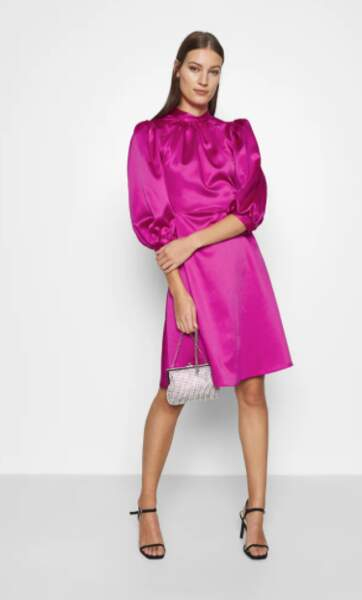 Robe en satin rose, Closet, 79,95€