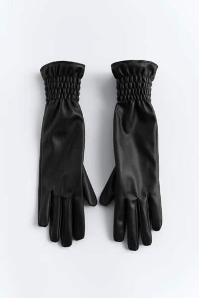 Gants longs avec élastiques au poignet, Zara, 17,95€