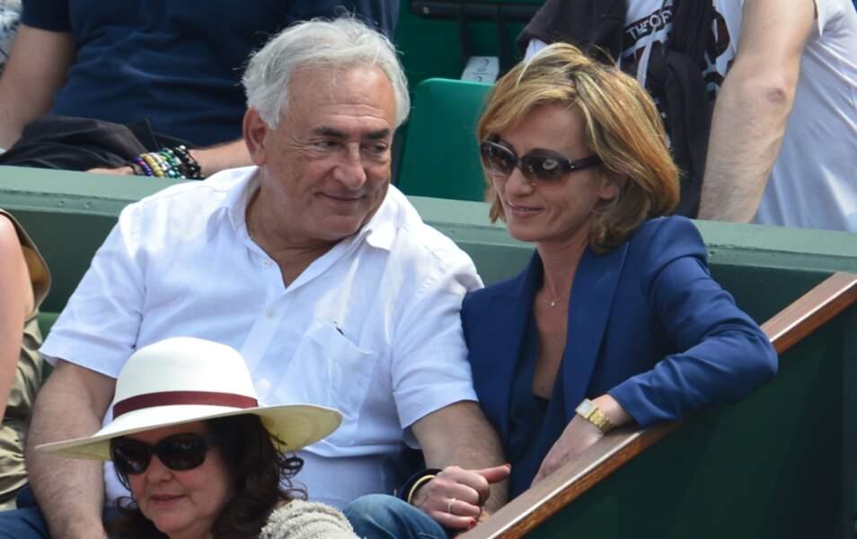 Dominique Strauss-Kahn et Myriam L'Aouffir à la finale dames de Roland Garros