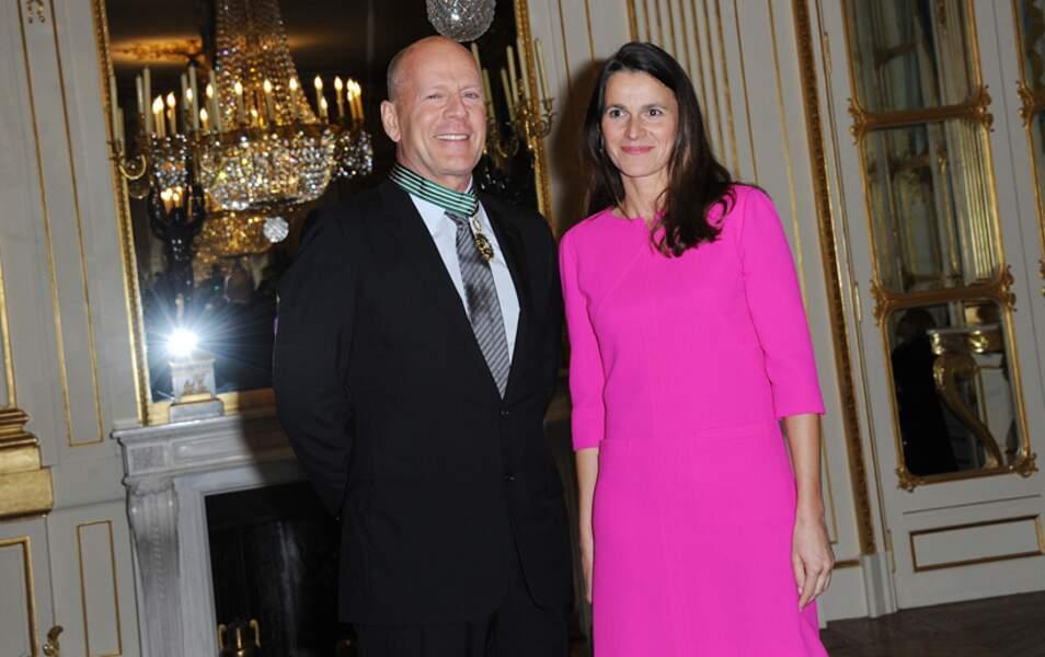 Bruce Willis et Aurélie Filippetti