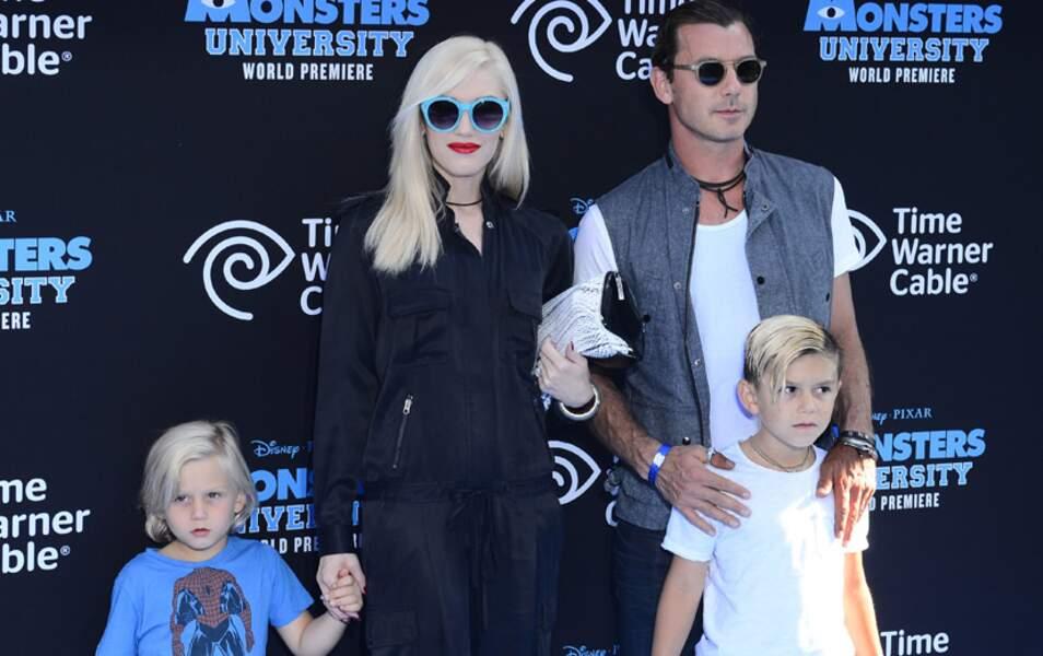 Gwen Stefani, son mari Gavin Rossdale et leurs enfants Zuma et Kingston