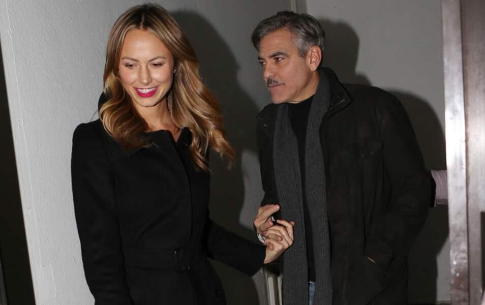 George Clooney et Stacy Keibler à Berlin