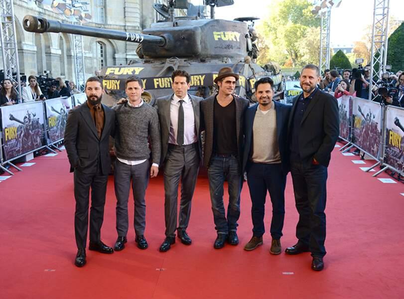 Shia LaBeouf, Logan Lerman, Jon Bernthal, Brad Pitt, Michael Peña et David Ayer