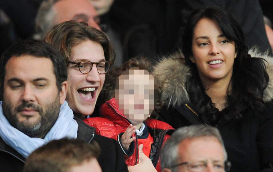 Bruce Toussaint, Jean Sarkozy avec son fils et sa femme Jessica Sebaoun