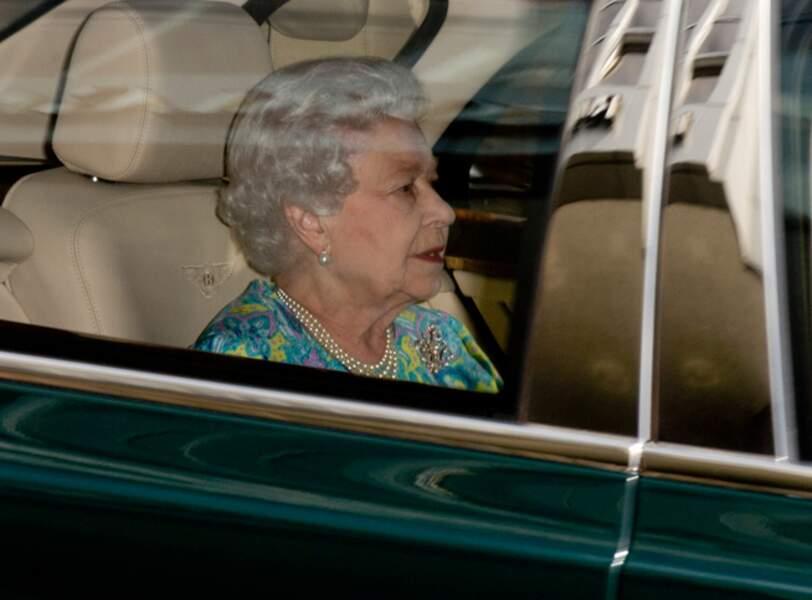La reine Elizabeth II se rend à Kensington Palace