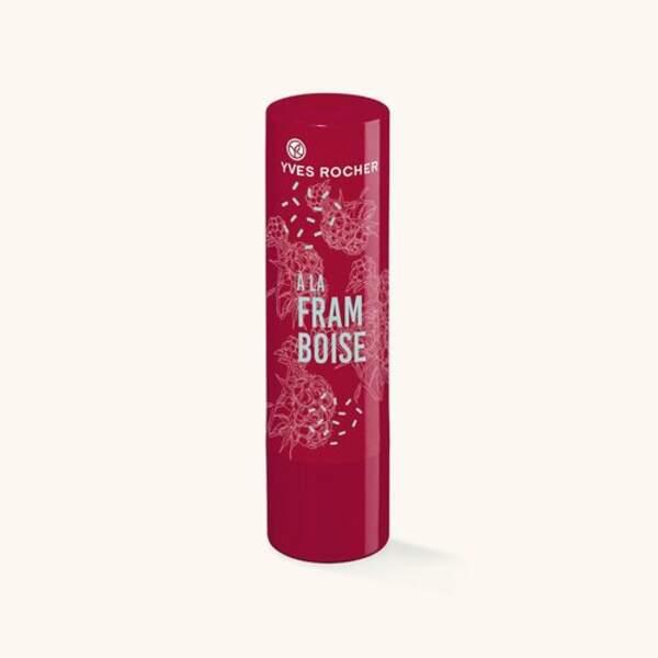 Baume lèvres teinté framboise, Yves Rocher, 1,60€