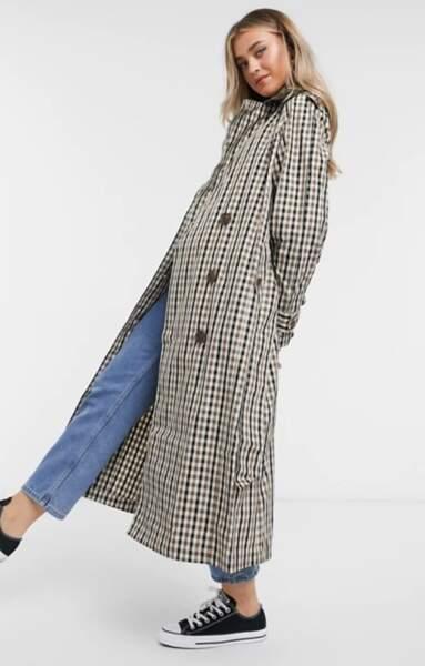 Trench-coat à carreaux, Asos,  57,35€