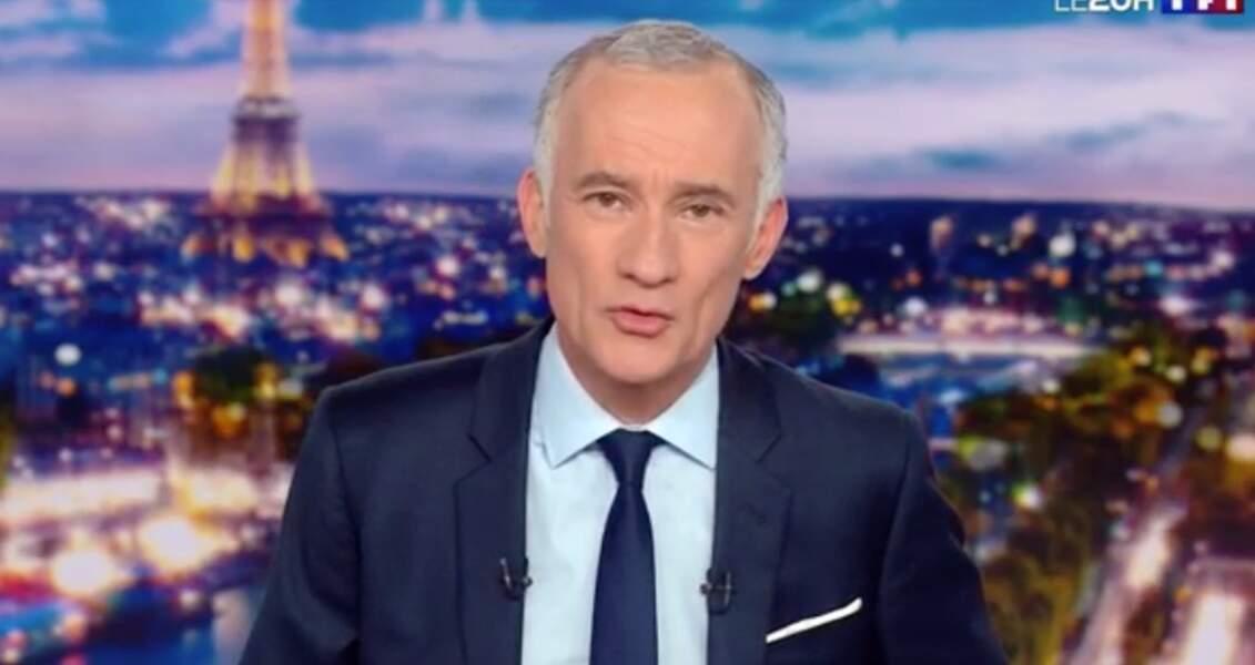 Gilles Bouleau présente le 20 heures de TF1 depuis le 4 juin 2012 et a succédé à Laurence Ferrari