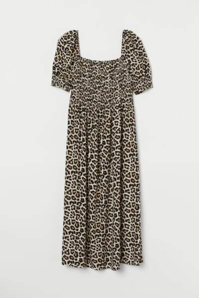 Robe à manches bouffantes, H&M, 7,99€ au lieu de 24,99€