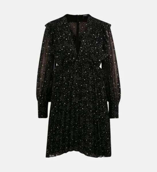 Robe courte fluide plissée, The Kooples, 122,50€ au lieu de 245€