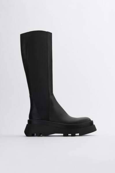 Combat boots, Zara, 59,99€ au lieu de 119€