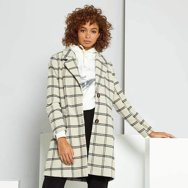 Manteau effet lainage, Kiabi, 55€