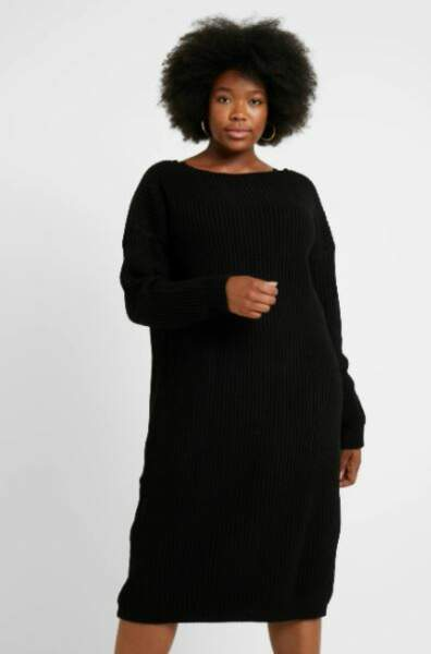 Robe pull noire, Glamorous Curve, 37,99€