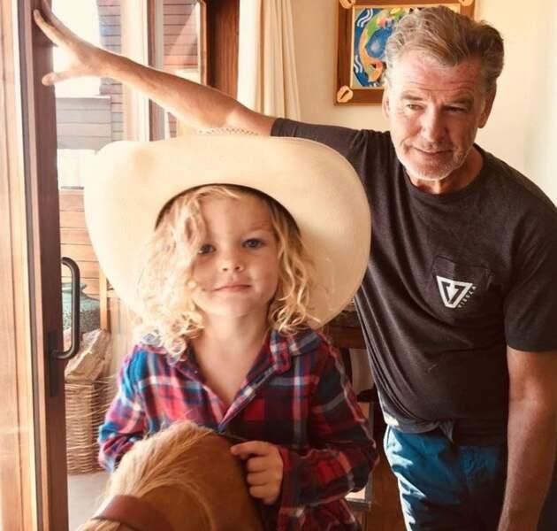 Pierce Brosnan et sa petite-fille Marley