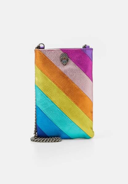 Pochette multicolore à bandoulière, Kurt Geiger London, 84,95€