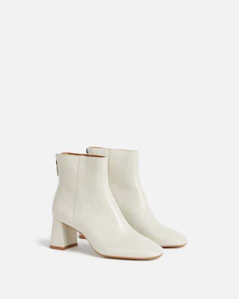 Boots blanches, Minelli, 139€