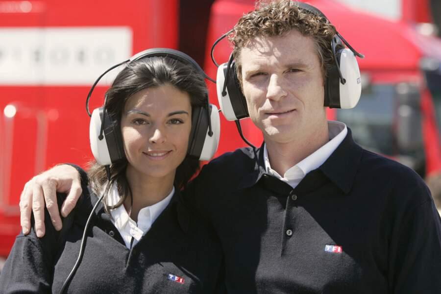 Denis Brogniart et Karen Minier en 2004