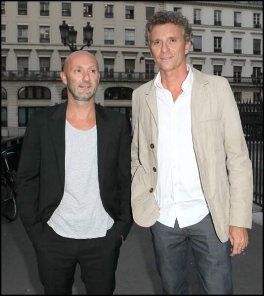 Denis Brogniart et Fabien Barthez en 2010