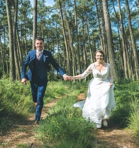 Anthony Bouthier et sa femme Mathilde Tastet