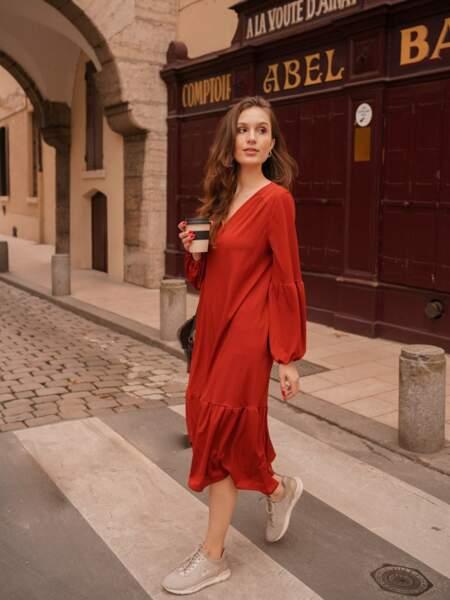 Robe manches bouffantes, Maison Alfa, 150 €