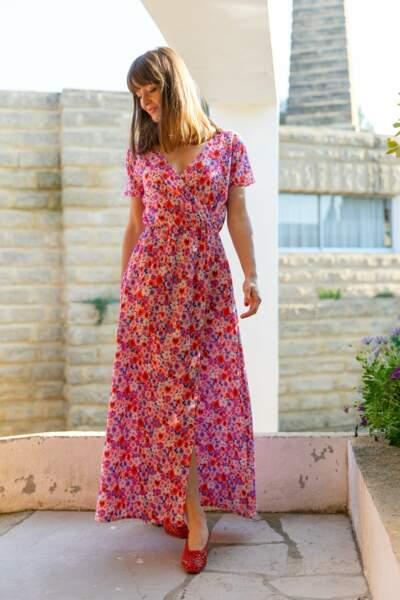 Robe longue à motifs, Les Petites Jupes de Prune, 119 €