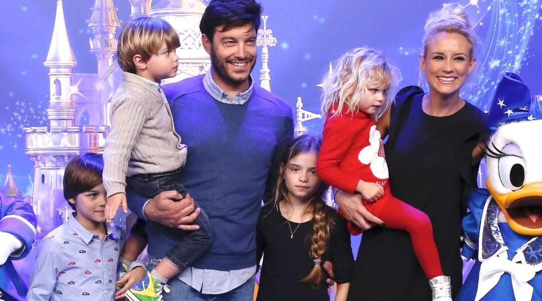 Elodie Gossuin, son époux et leurs enfants